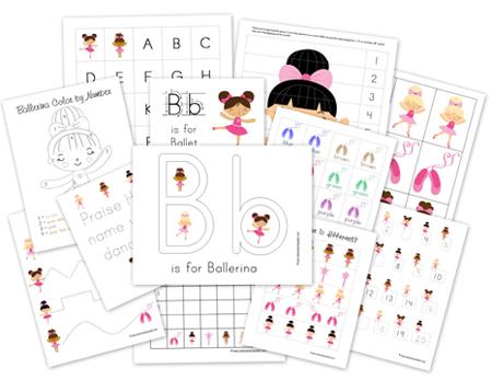 ballerina preschool pack - Free Preschool Printables