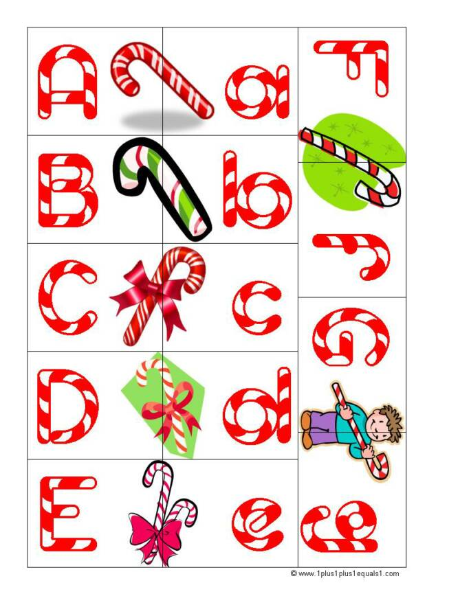 candy cane letters