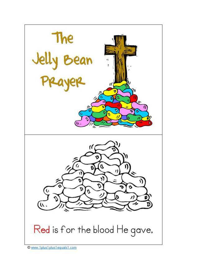 jelly bean prayer coloring page - 1 1 1 1 spring fun