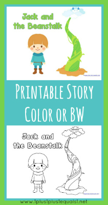 graphic about Jack and the Beanstalk Printable called Jack and the Beanstalk Printables