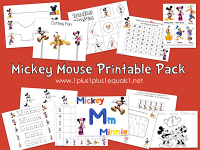 Mickey Mouse Printables