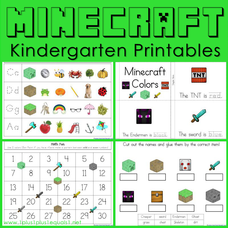 Minecraft Learning Coloring Pages