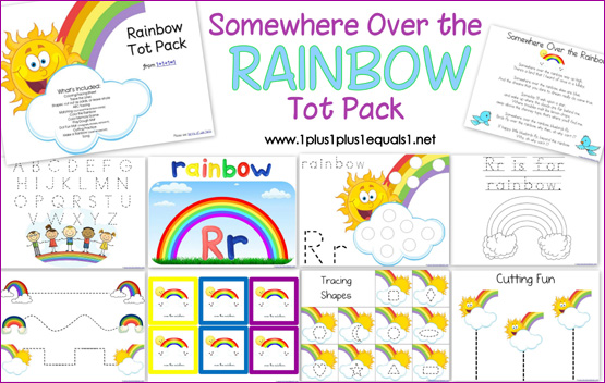 graphic relating to Free Printable Rainbow referred to as Rainbow ~ Tot Pack
