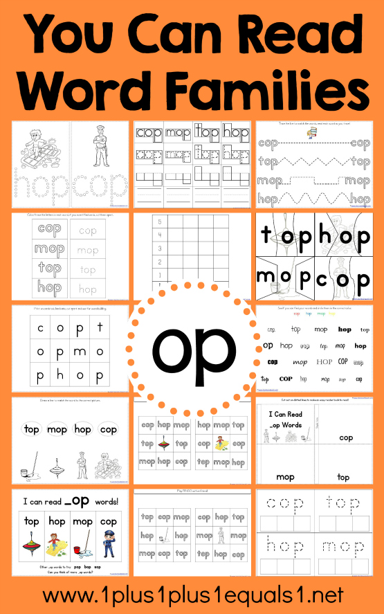 It is an image of Lively Word Families Printable